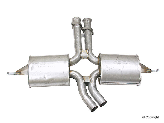 Mercedes 420SEL Exhaust > Mercedes 420SEL Exhaust Muffler