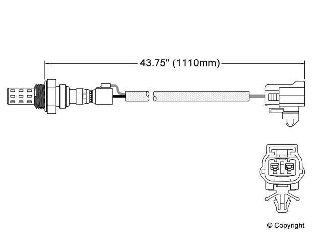 Mazda B2200 O2 Sensor > Mazda B2200 Oxygen Sensor