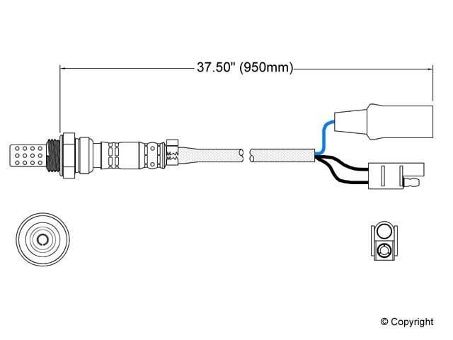 Porsche O2 Sensor > Porsche 924 Oxygen Sensor
