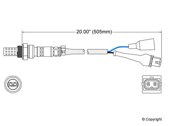 Saab O2 Sensor > Saab 9000 Oxygen Sensor