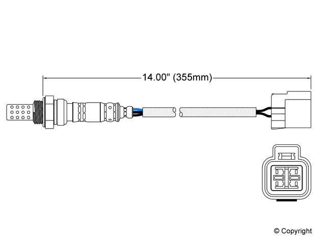 Hyundai Excel O2 Sensor > Hyundai Excel Oxygen Sensor
